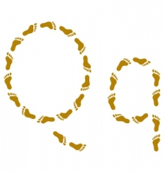 Traces letter q vector