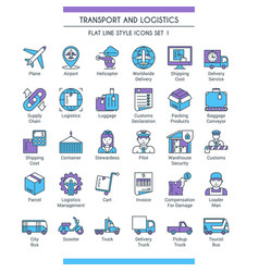 transport and logistic icons 01 vector image