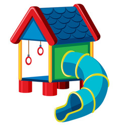 Treehouse with slide playground vector