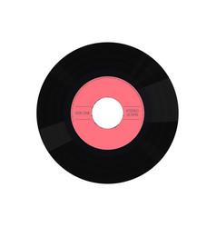 vinyl single record vector image