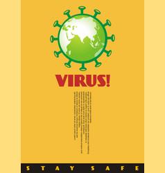 Virus corona artistic poster or banner concept vector