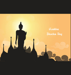 Visakha day buddhism special day eps10 vector