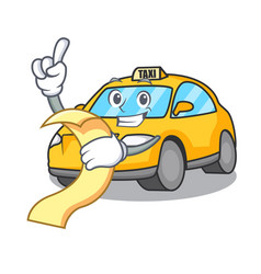 With menu taxi character mascot style vector