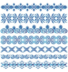 blue ottoman serial patterns three vector image vector image