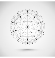 Connect globe or wire sphere icon vector image