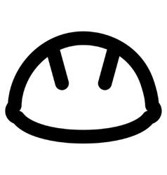 Helmet Stroke Icon vector image