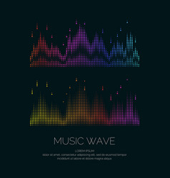 poster of the sound wave from equalizer vector image vector image