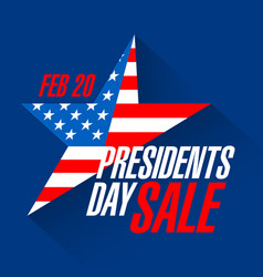 presidents day weekend sale banner vector image vector image