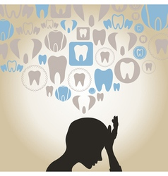 Toothache vector image