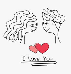 cards of cute couple vector image vector image