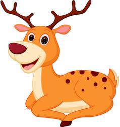 happy deer cartoon vector image