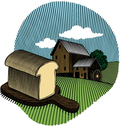 loaf of bread color vector image vector image