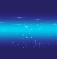 abstract digital technology with blue light vector image