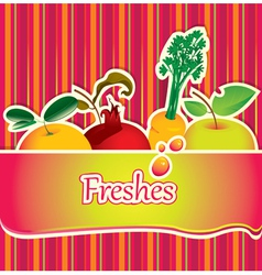 freshes background vector image vector image