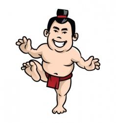 happy sumo vector image vector image