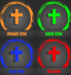 Religious cross christian icon fashionable modern vector