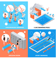 swimming pool design concept vector image