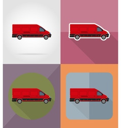 transport flat icons 12 vector image vector image