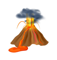 Volcanic eruption isolated icon vector
