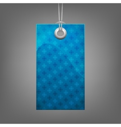 Blue price tag with snowflake vector image