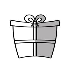 Gift box ribbon birthday event shadow vector