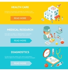 Mobile health care and medical research banners vector image