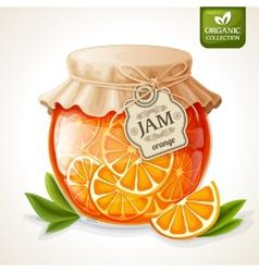 Orange jam jar vector image vector image