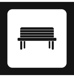 Wooden bench icon simple style vector image