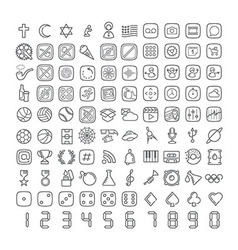 100 icons 006 vector image