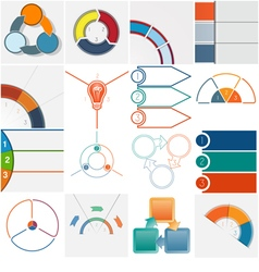 16 templates Infographics cyclic processes text ar vector