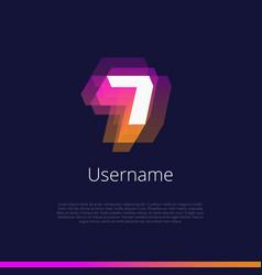 7-monogram-logo vector image