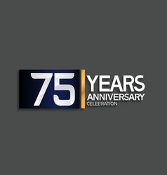 75 years anniversary logotype with blue vector