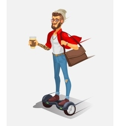 a cool hipster vector image