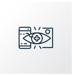 augmented reality icon line symbol premium vector image