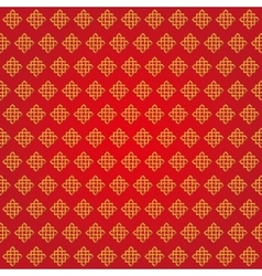 Auspicious Endless knots Chinese patternRedGold vector