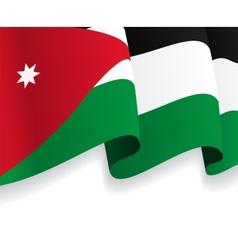 Background with waving Jordan Flag vector image