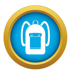 Backpack icon blue isolated vector