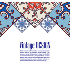 Banner azulejos in portuguese tiles style fo vector