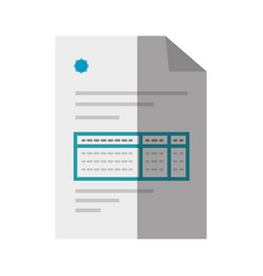 Bill document icon vector