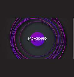 Black background with intersecting violet circles vector