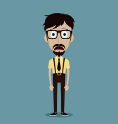Businessman office guy funny cartoon character vector