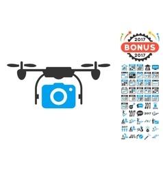 Camera Drone Icon With 2017 Year Bonus Pictograms vector image