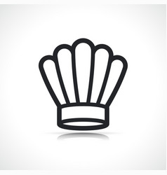 chef hat icon isolated vector image
