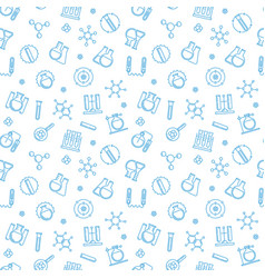 chemistry seamless pattern with line vector image