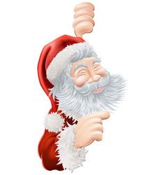 Christmas santa claus pointing vector
