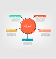circle cartoon steps infographics - can vector image
