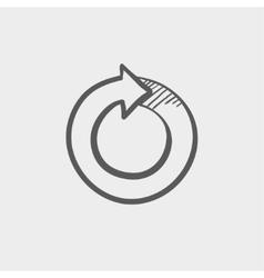 Circular arrow sketch icon vector image