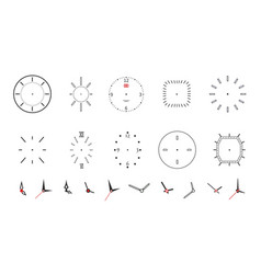 clock faces modern wall watch face design vector image