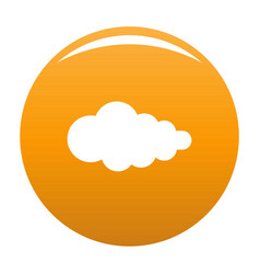 Cloud with fallout icon orange vector
