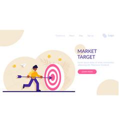 Concept market goal achievement financial aim vector